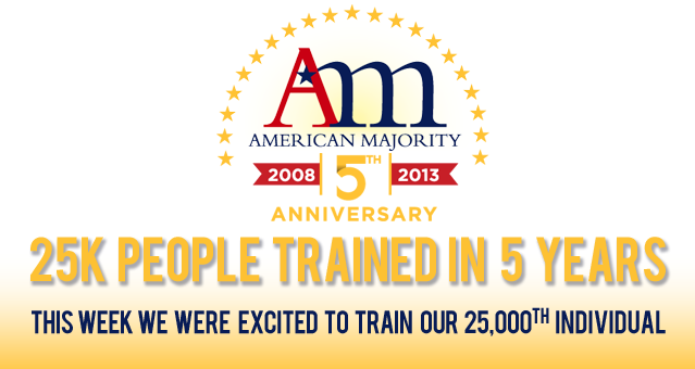 American Majority trains 25,000 in 5 years