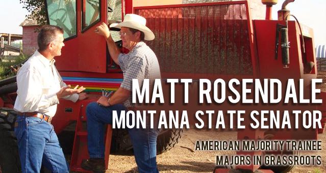 Matt Rosendale Senator American Majority Trainee