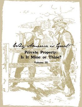Private Property: Is it Mine or Thine?