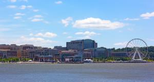 National Harbor photographed from Woodrow Wilson Bridge.