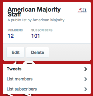 American Majority Staff Twitter List