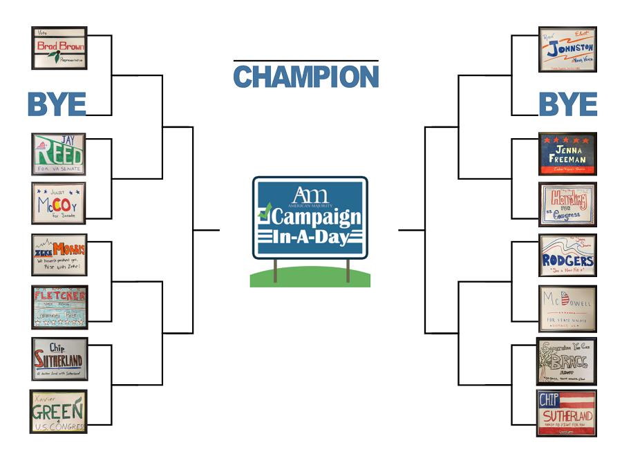 Round One: American Majority Yard Sign Tournament